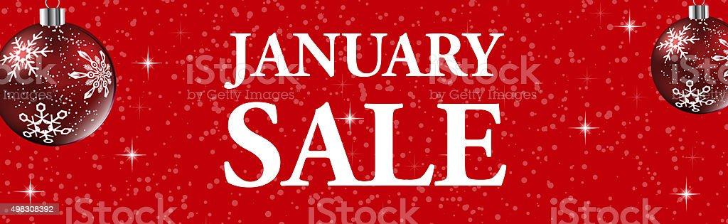 january sale web banner stock photo