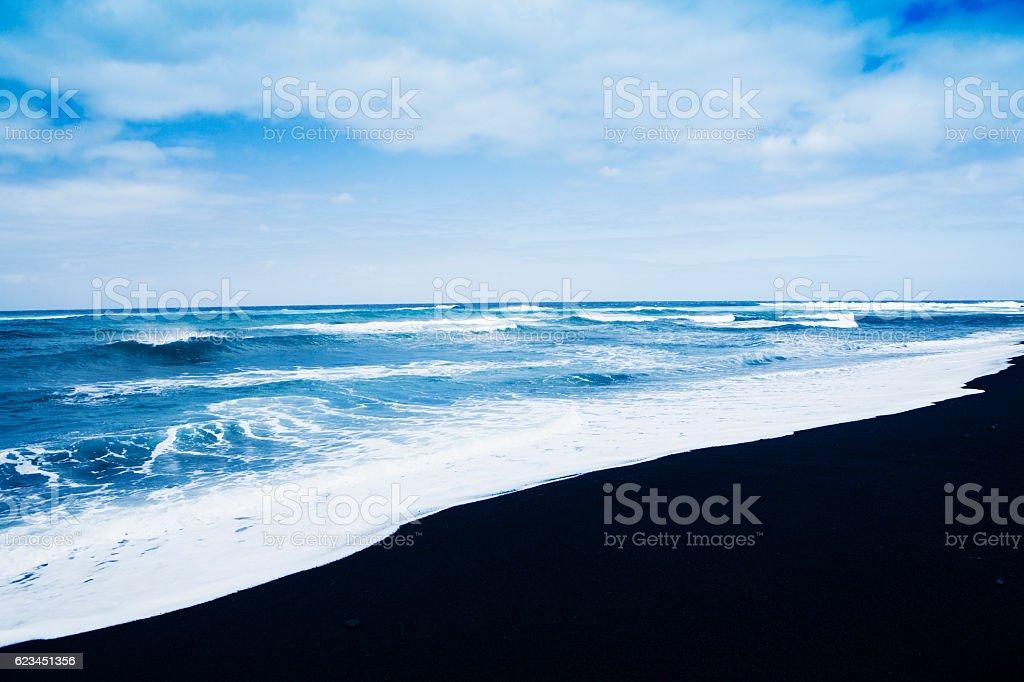 Janubio black volcanic beach Lanzarote Spain stock photo