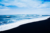 Janubio black volcanic beach Lanzarote Spain