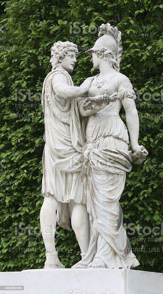Janus and Bellona royalty-free stock photo