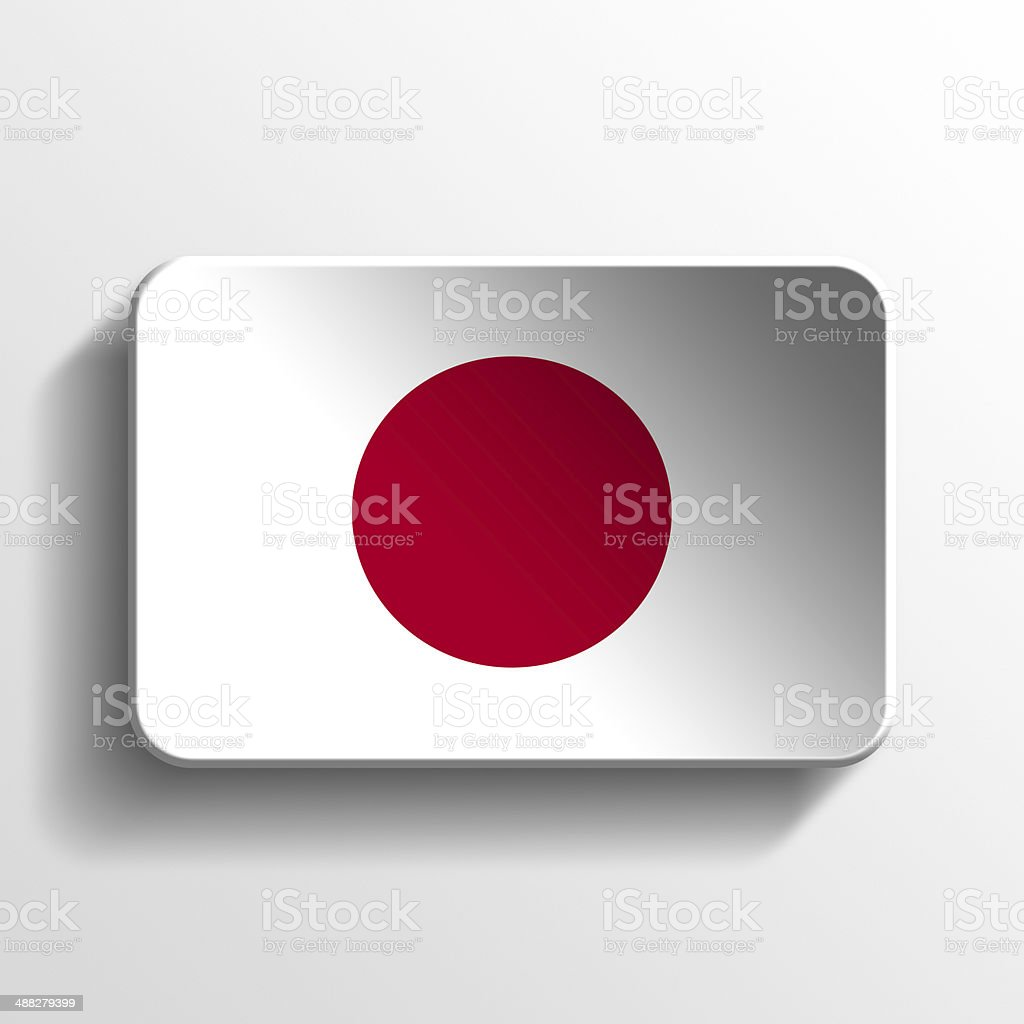 Japan 3D button royalty-free stock photo