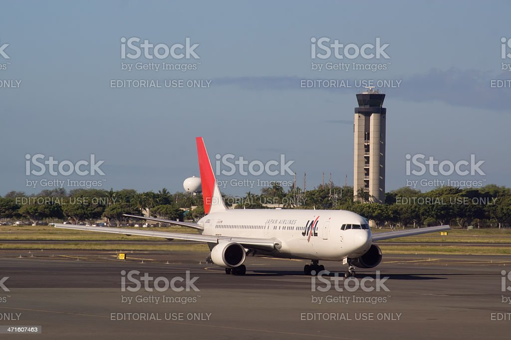 Japan Airlines B767 royalty-free stock photo
