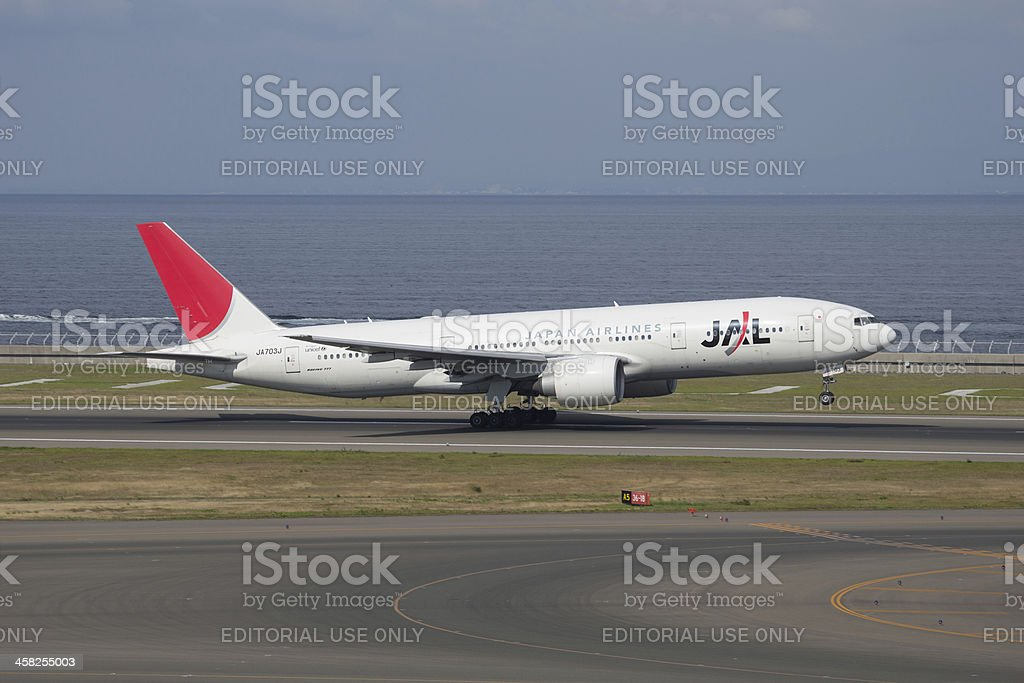 Japan Airlines Boeing 777 stock photo