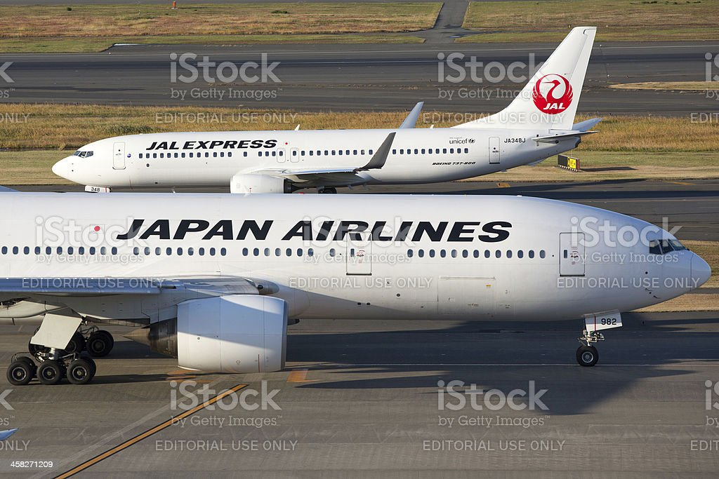 Japan Airlines JAL royalty-free stock photo