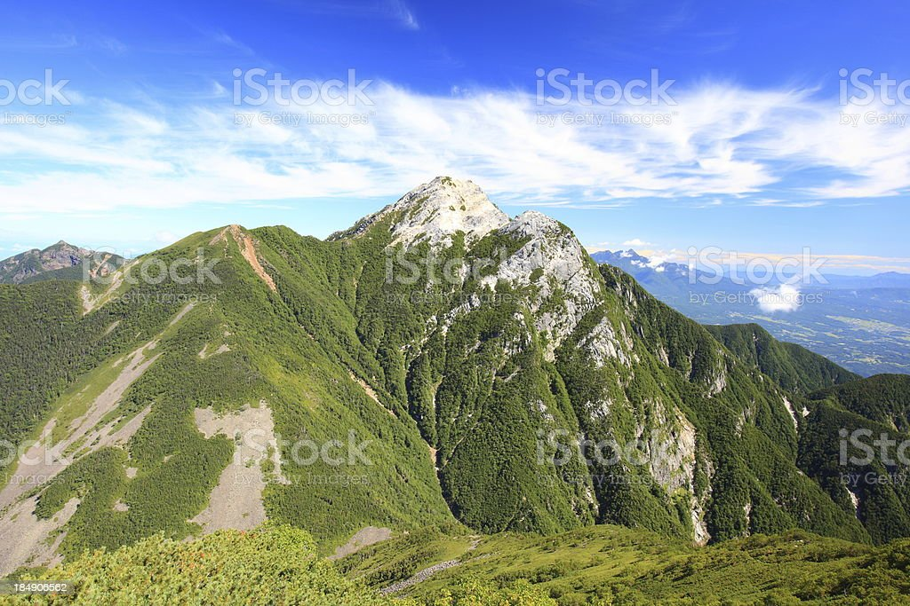 Japan Alps Mt. Kaikomagatake stock photo