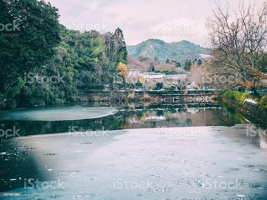 Japan at winter stock photo
