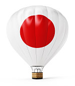 Japan balloon isolated on white
