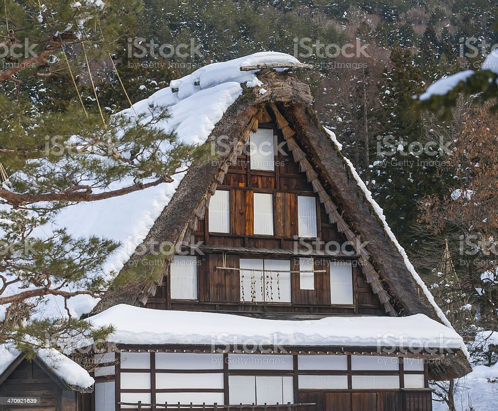japan building roof stock photo