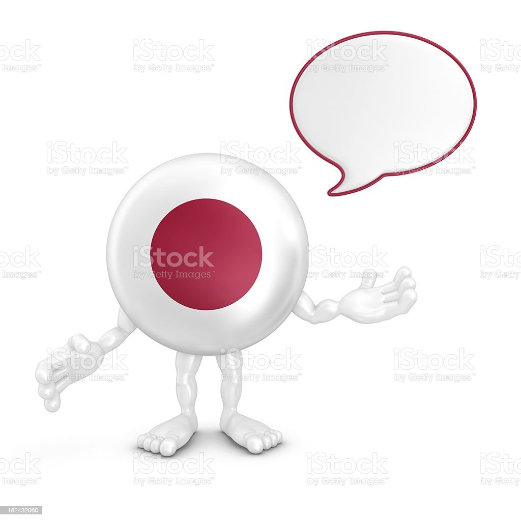 japan character with speech bubble royalty-free stock photo