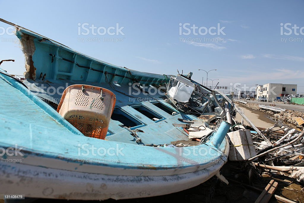 Japan, earthquake, tsunami stock photo