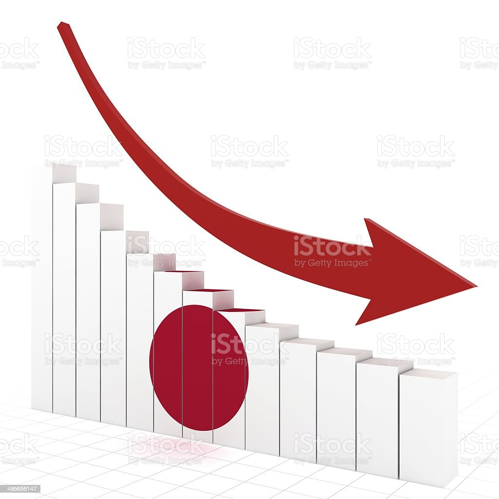 Japan Economics Crisis royalty-free stock photo