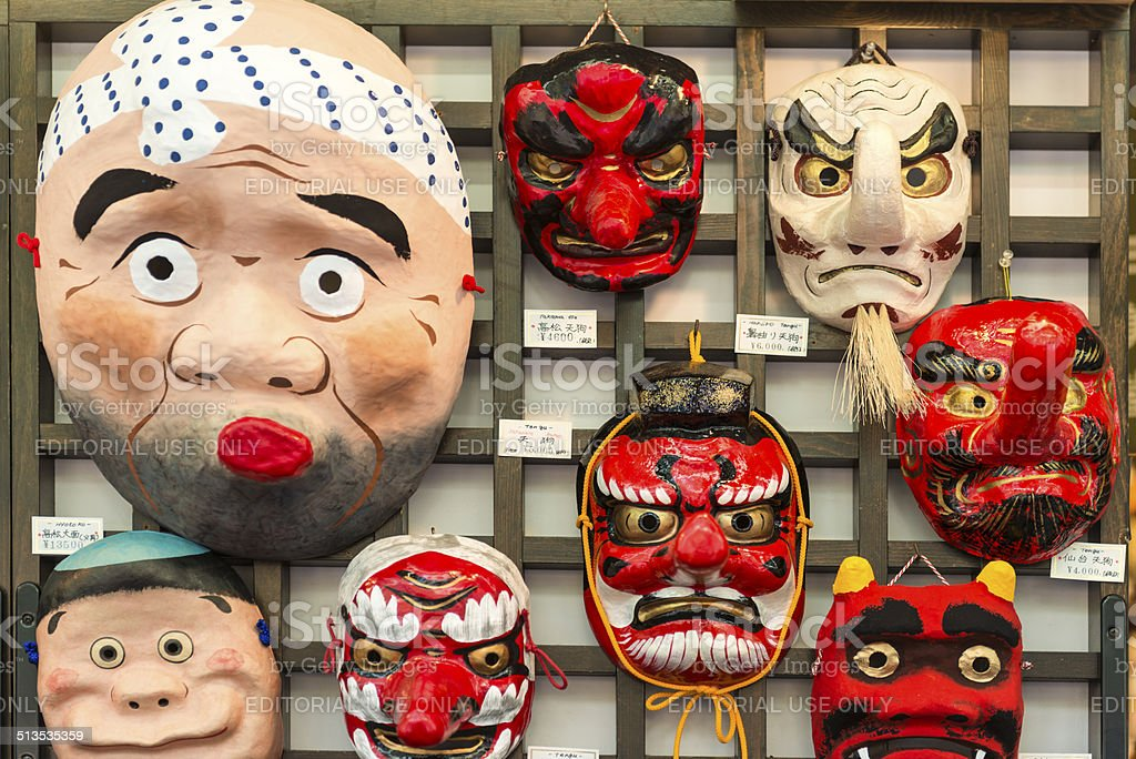 Japan face mask stock photo