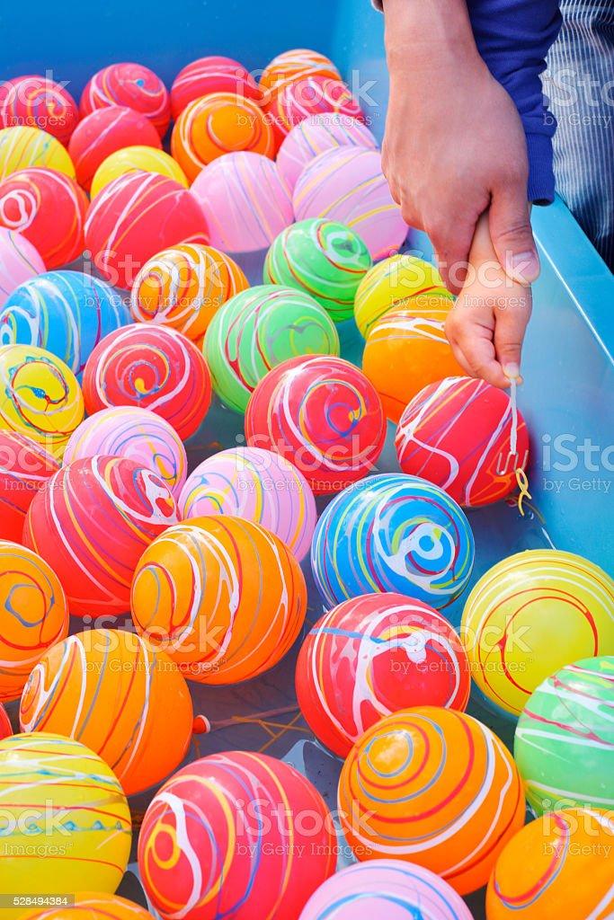 Japan festival: yo-yo balloon stock photo