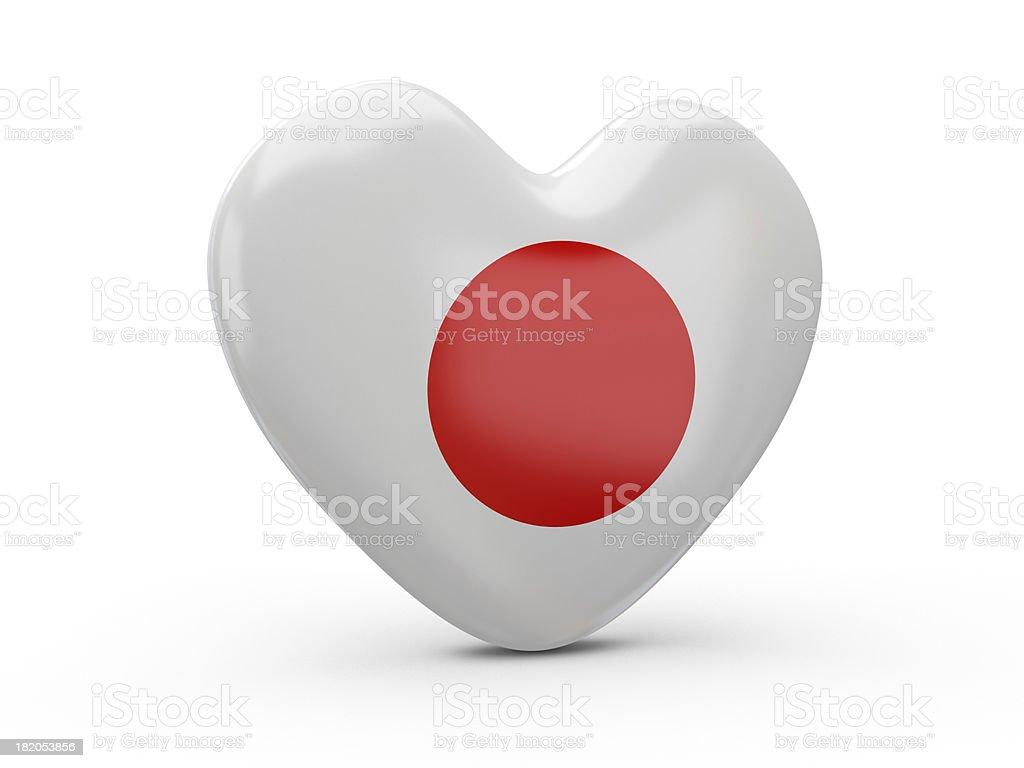 Japan Flag Heart royalty-free stock photo