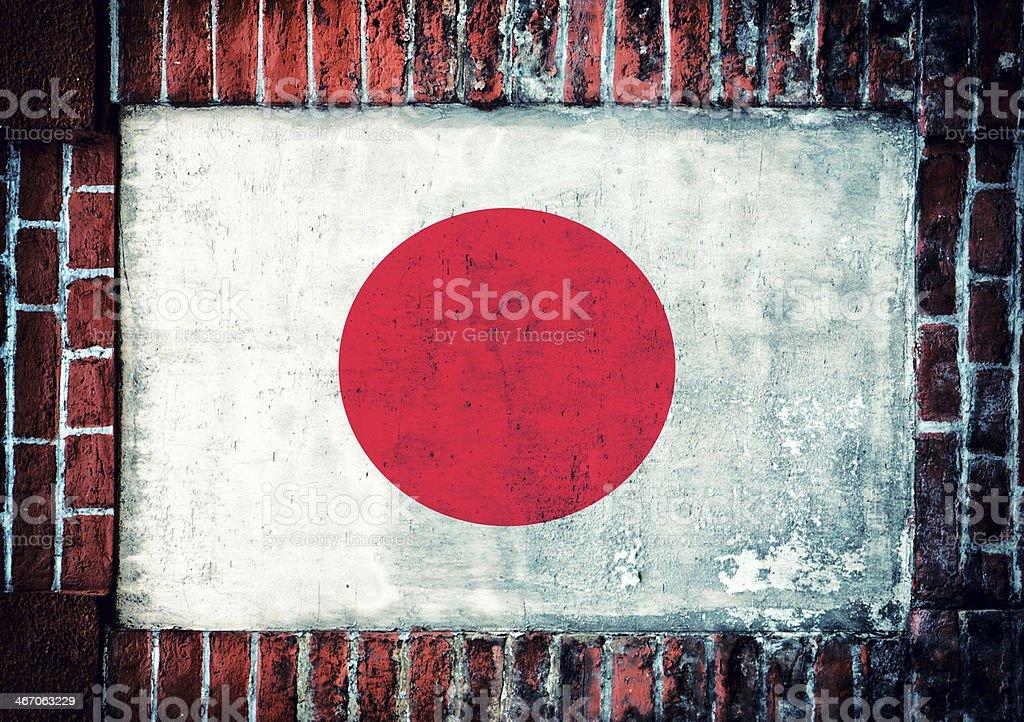 Japan flag royalty-free stock photo