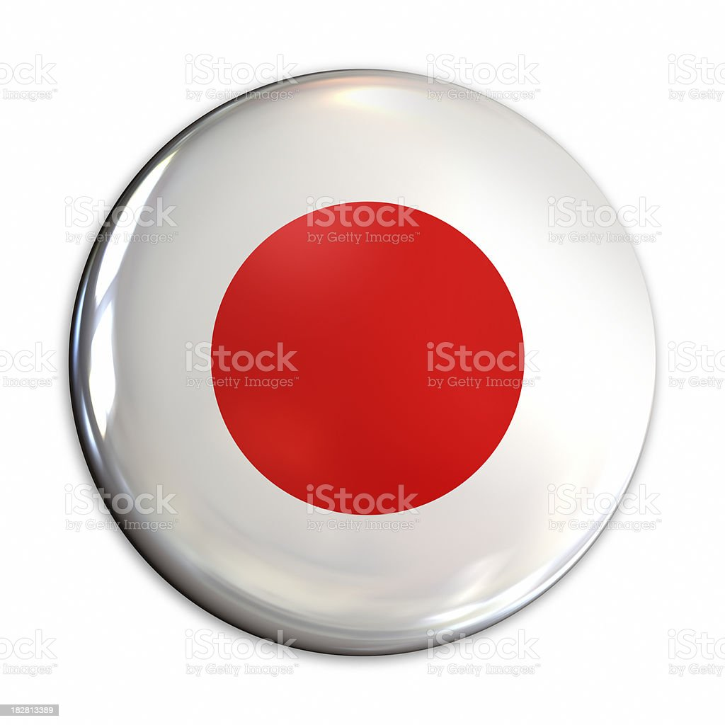 Japan flag pin royalty-free stock photo
