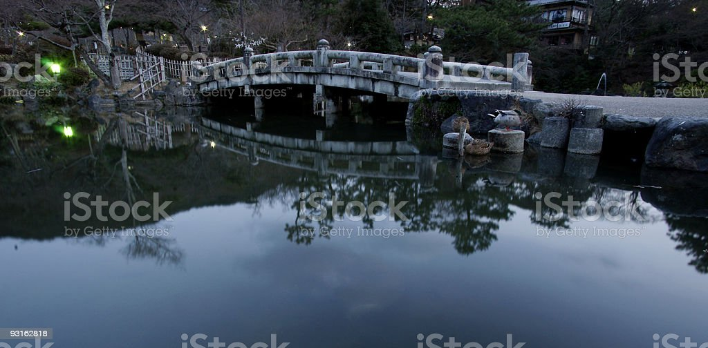 Japan Garden Bridge royalty-free stock photo