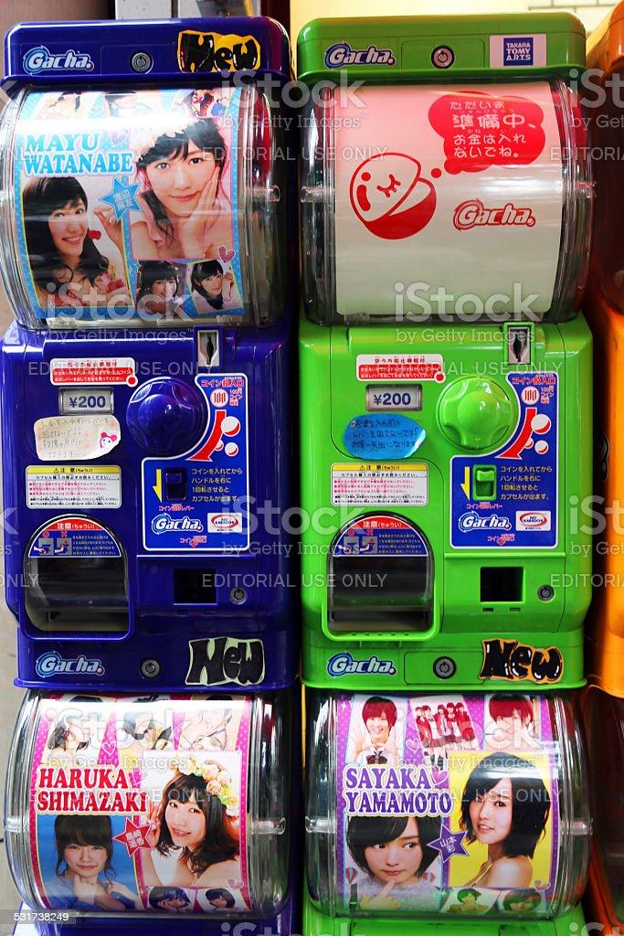 Japan: Gashapon Vending Machines in Akihabara stock photo