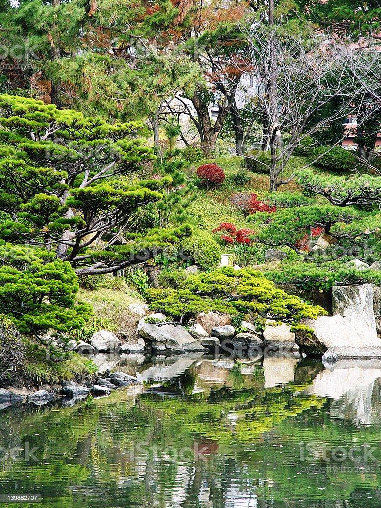 Japan Hiroshima Shukkeien Gardens stock photo