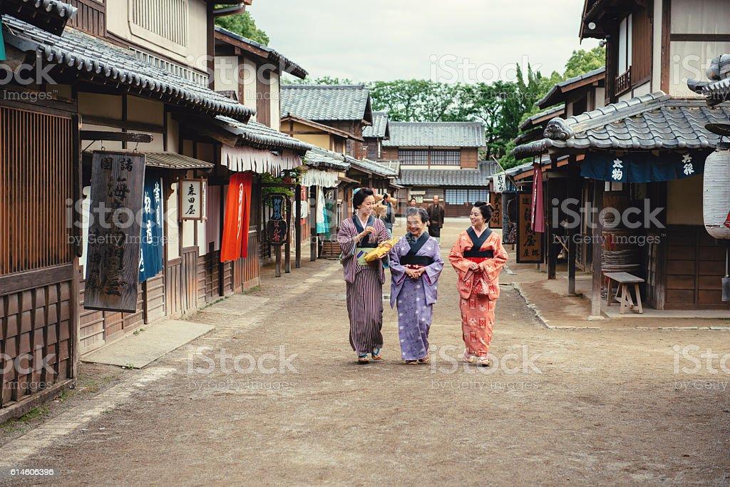 Japan history in 19th cenury stock photo