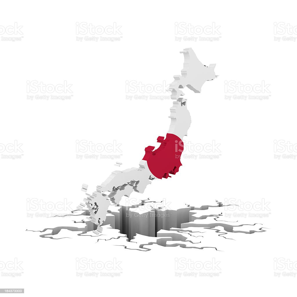 japan in recesion royalty-free stock photo