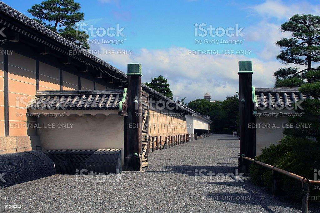 Japan: Interior Gate at Nijō Castle in Kyoto stock photo