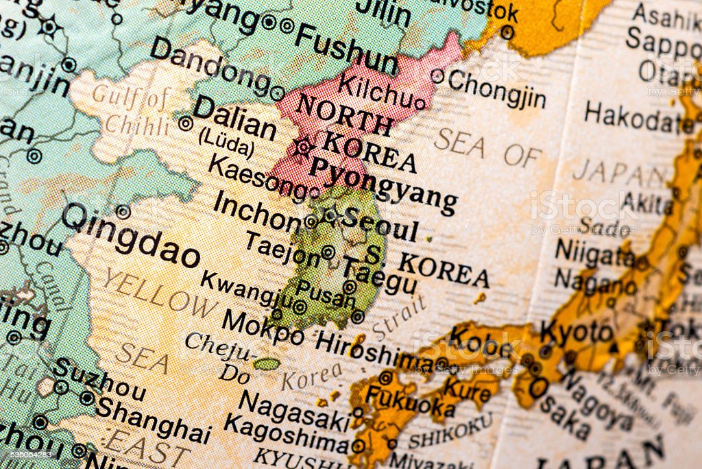 Japan, Korea, and vecinities stock photo