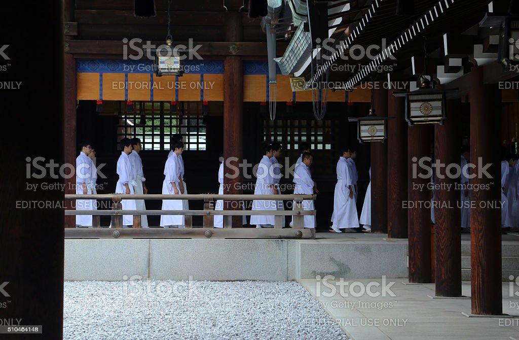 Japan: Meiji Shrine in Tokyo stock photo