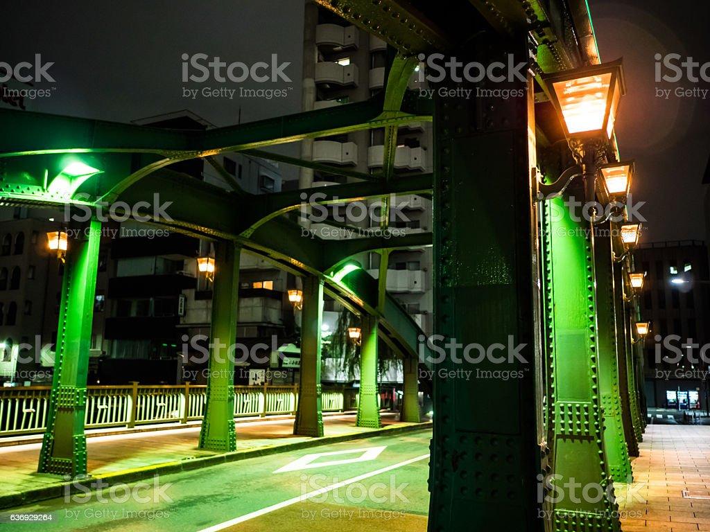 日本の橋の夜景