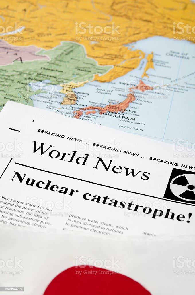 Japan Nuclear Reactor Disaster news - XVIII royalty-free stock photo