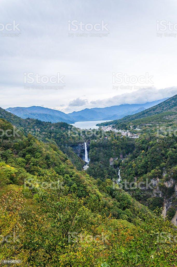 Japan of mountain scenery. stock photo