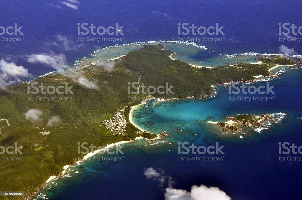 Japan Okinawa Aerial View stock photo
