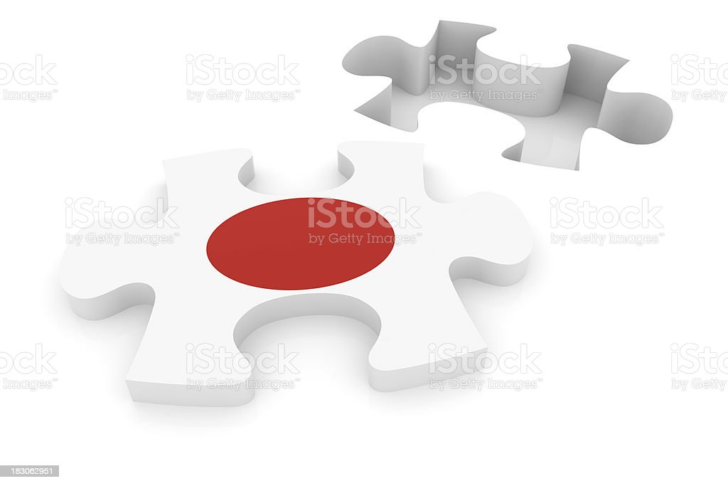 Japan Puzzle Concept royalty-free stock photo