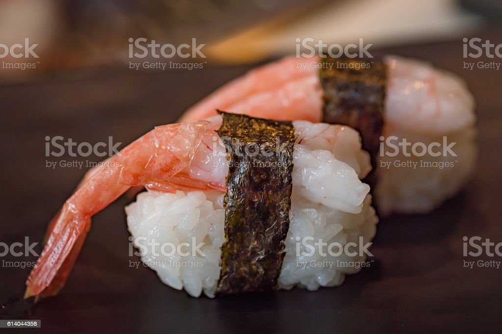 Japan shrimp sushi stock photo
