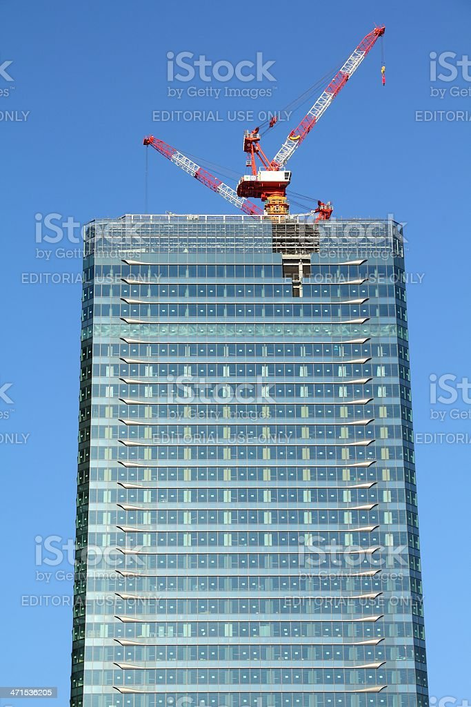 Japan skyscraper construction stock photo
