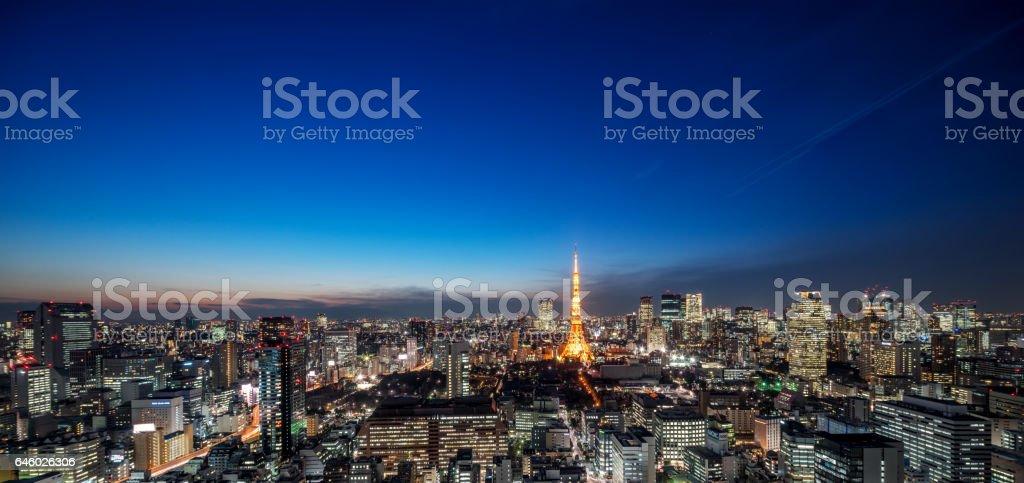 Japan Tokyo city scenery stock photo