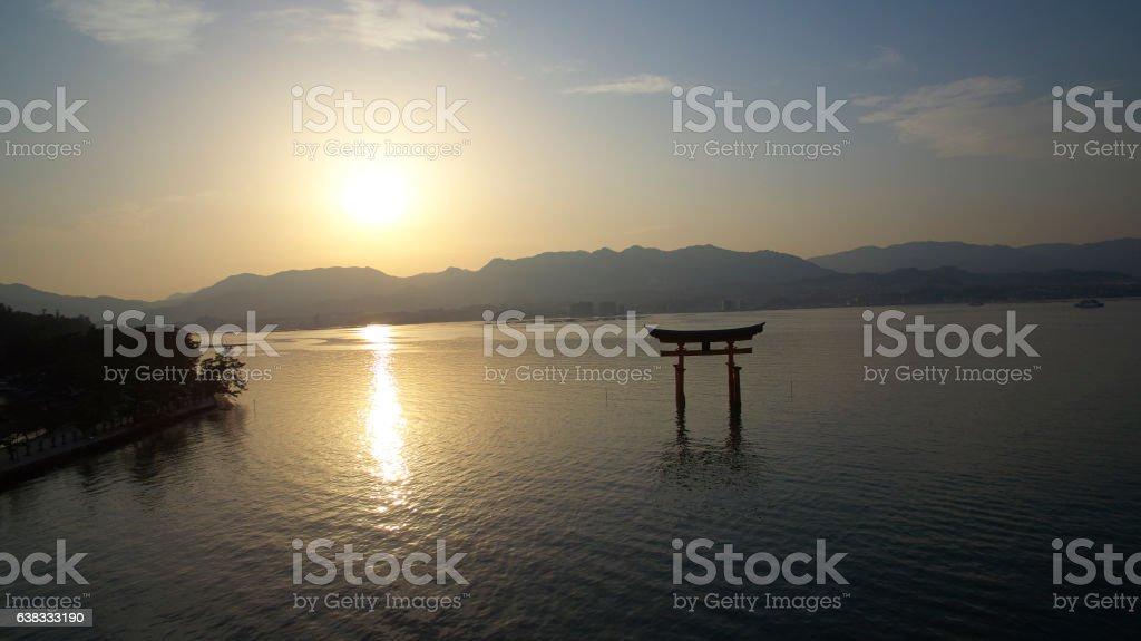 Japan torii stock photo