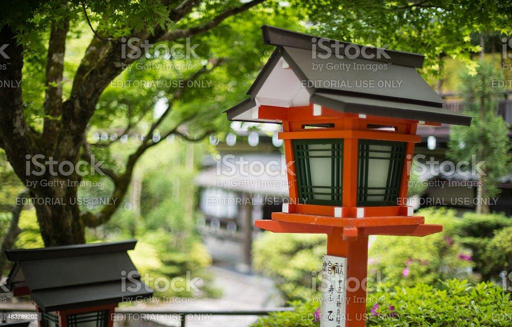 Japan traditional lamp stock photo