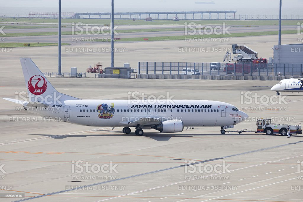 Japan Transocean Air Boeing 737 stock photo