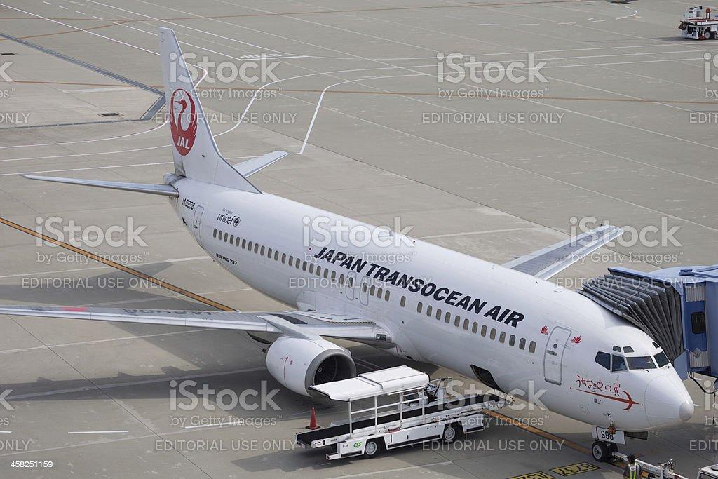 Japan Transocean Air Boeing 737-400 stock photo