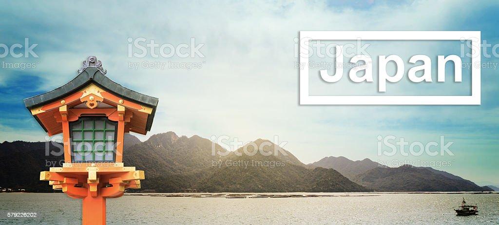 Japan travel Background banner. stock photo