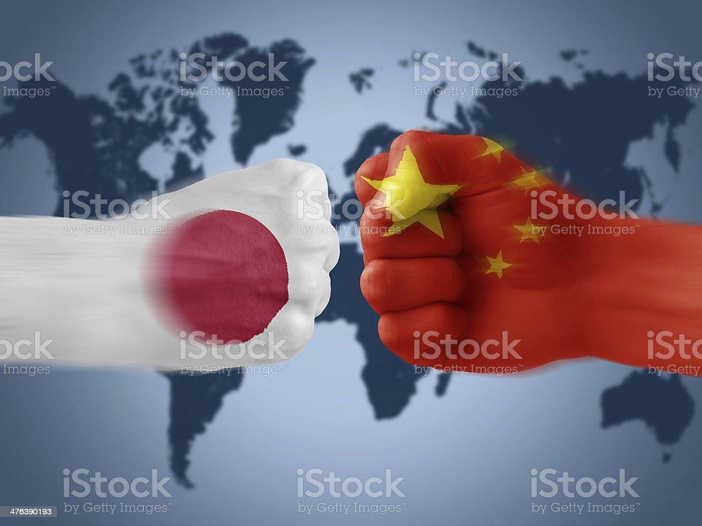 japan x china royalty-free stock photo