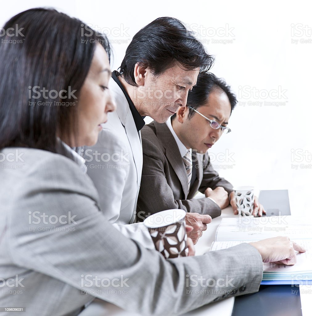 Japanaese business people in a meeting royalty-free stock photo