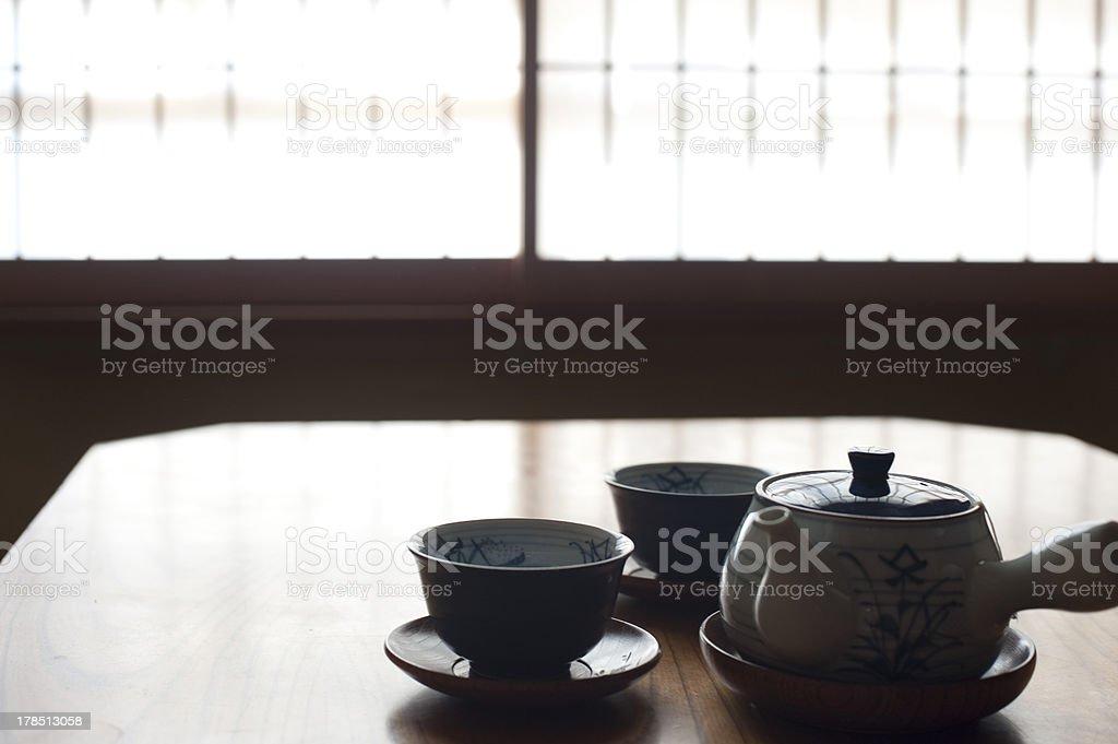 Japanease Tea set royalty-free stock photo