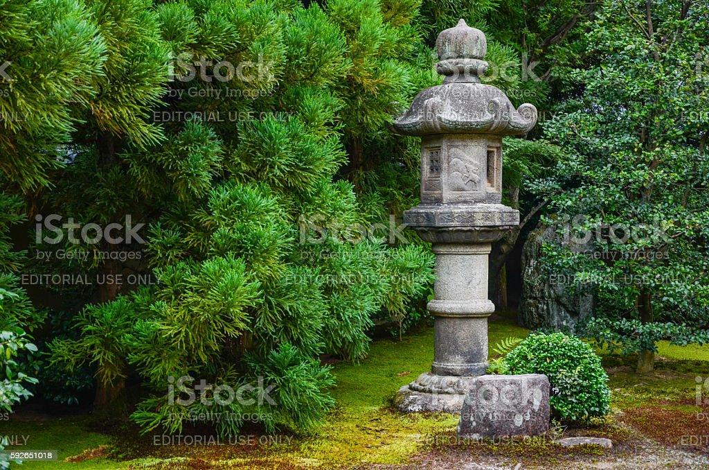 Japanes stone lantern, Daitokuji Temple, Kyoto, Japan stock photo