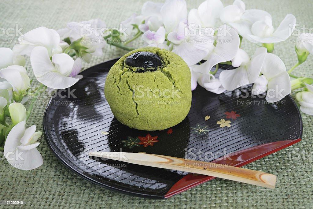 Japanes traditional cake 'manchu' stock photo