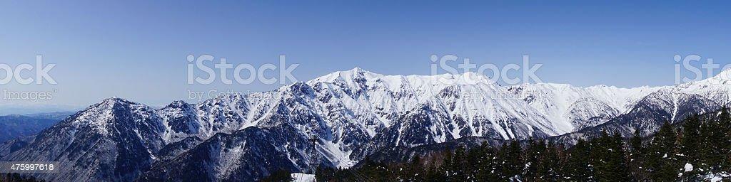 Japanese alps stock photo