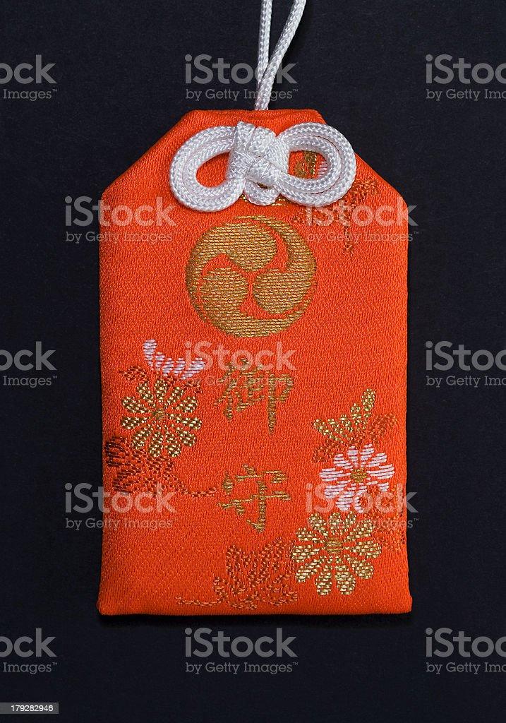 Japanese amulet stock photo
