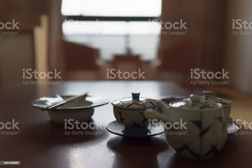 Japanese and Chinese tea culture stock photo