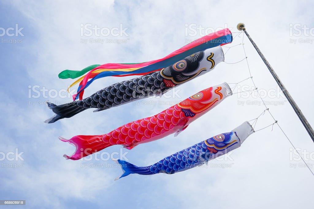 Japanese Annual events Koinobori stock photo
